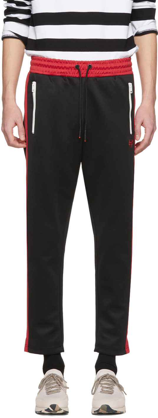 Image of Diesel Black and Red P-russi Lounge Pants