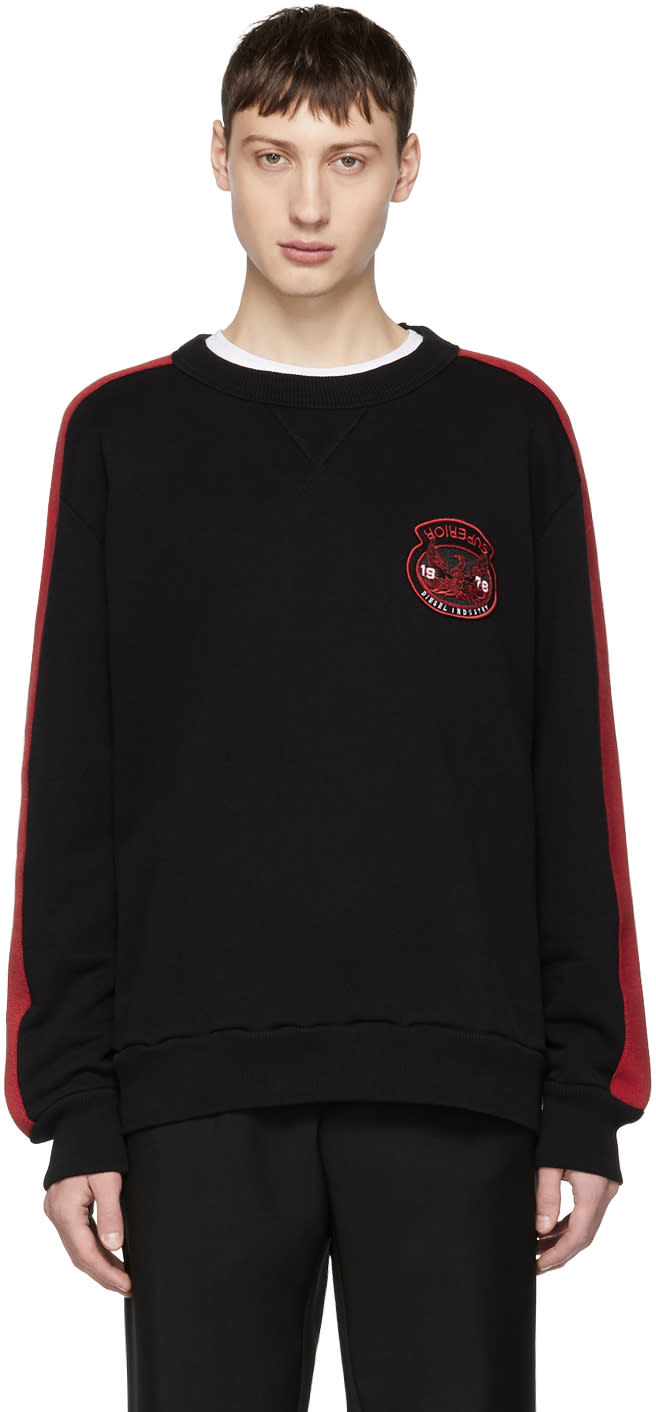 Image of Diesel Black and Red S-bay Sweatshirt