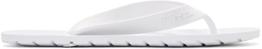 Diesel White Splish Sandals