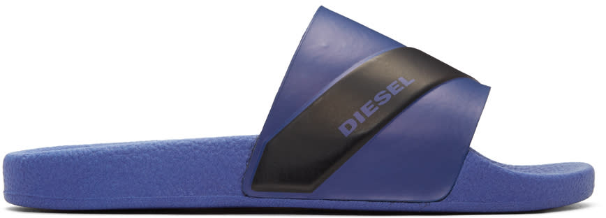 Diesel Blue and Black Sa-maral Slides