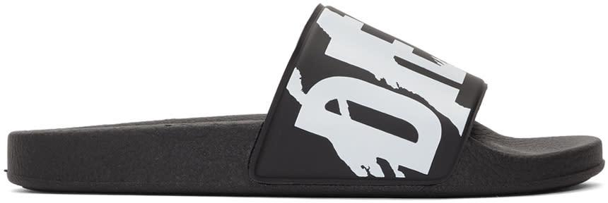 Diesel Black Sa-maral Slides