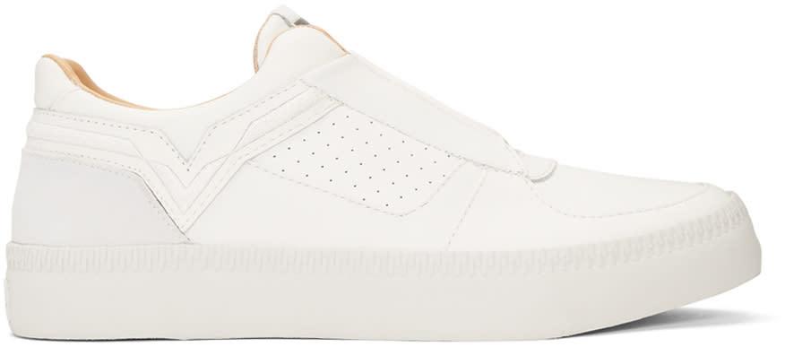 Diesel White S-spaark Slip-on Sneakers
