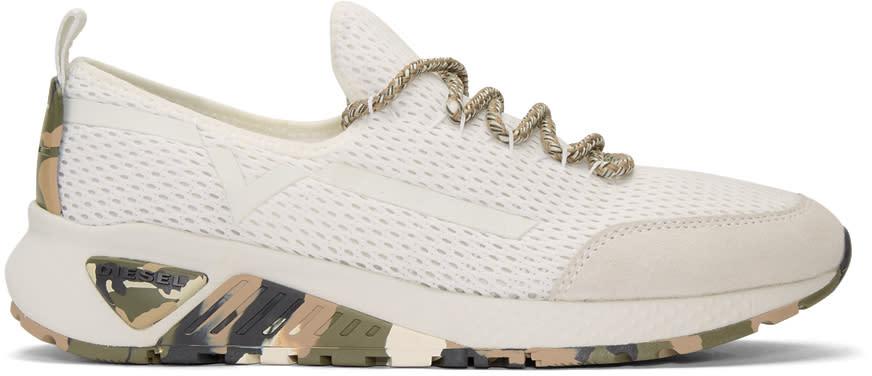 Diesel White S-kby Sneakers