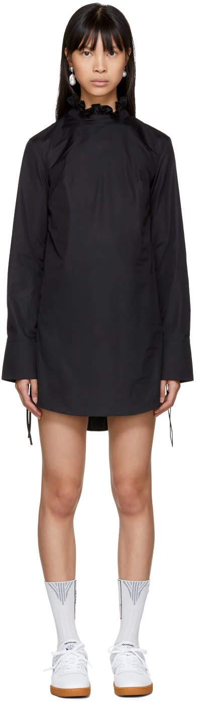 Image of Cecilie Bahnsen Black Nelly Shirt Dress