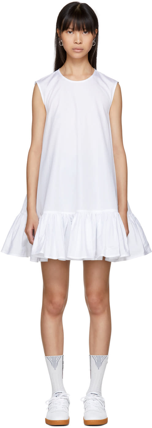 Image of Cecilie Bahnsen White Lala Dress
