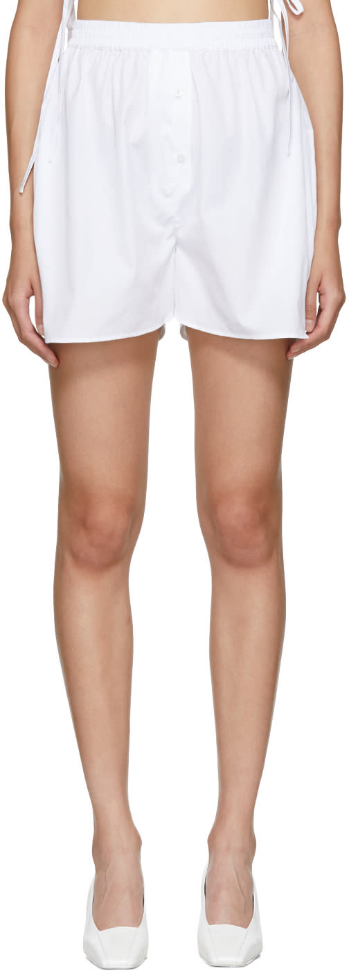 Image of Cecilie Bahnsen White Nivi Shorts
