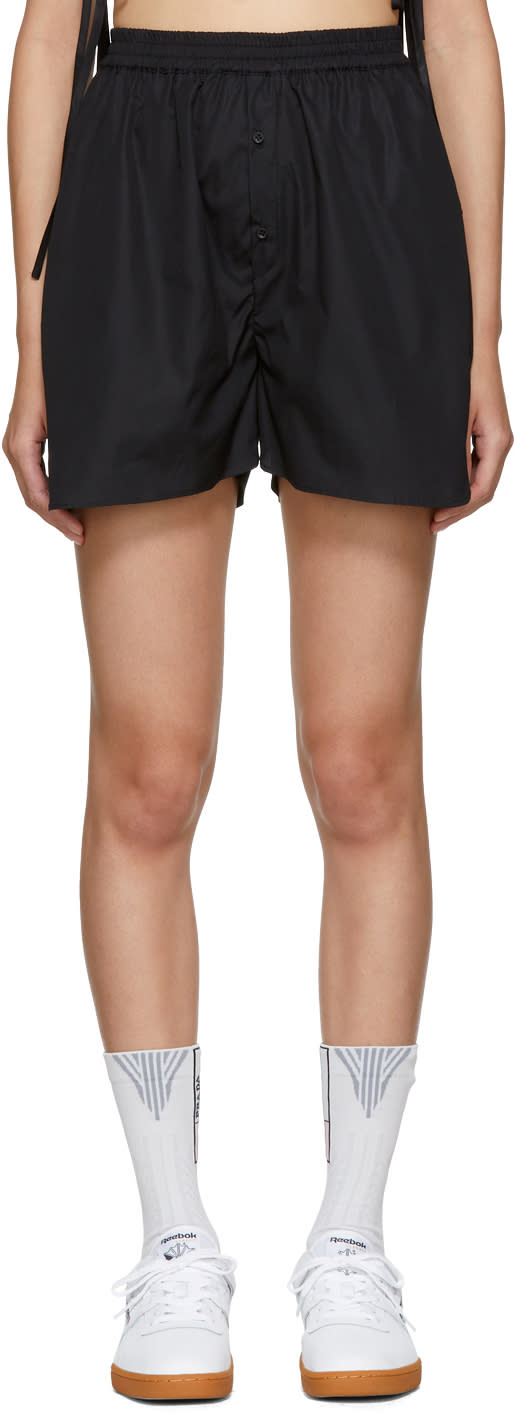 Image of Cecilie Bahnsen Black Nivi Shorts