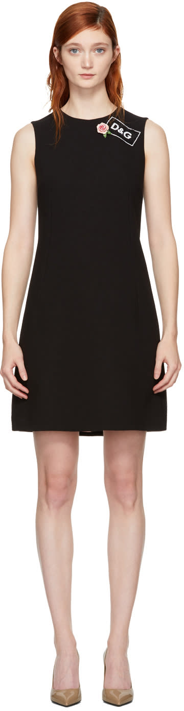 Dolce and Gabbana Black Crepe A-line Dress