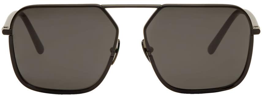 2e9b69208e8c Dolce and Gabbana Black Rectangular Sunglasses