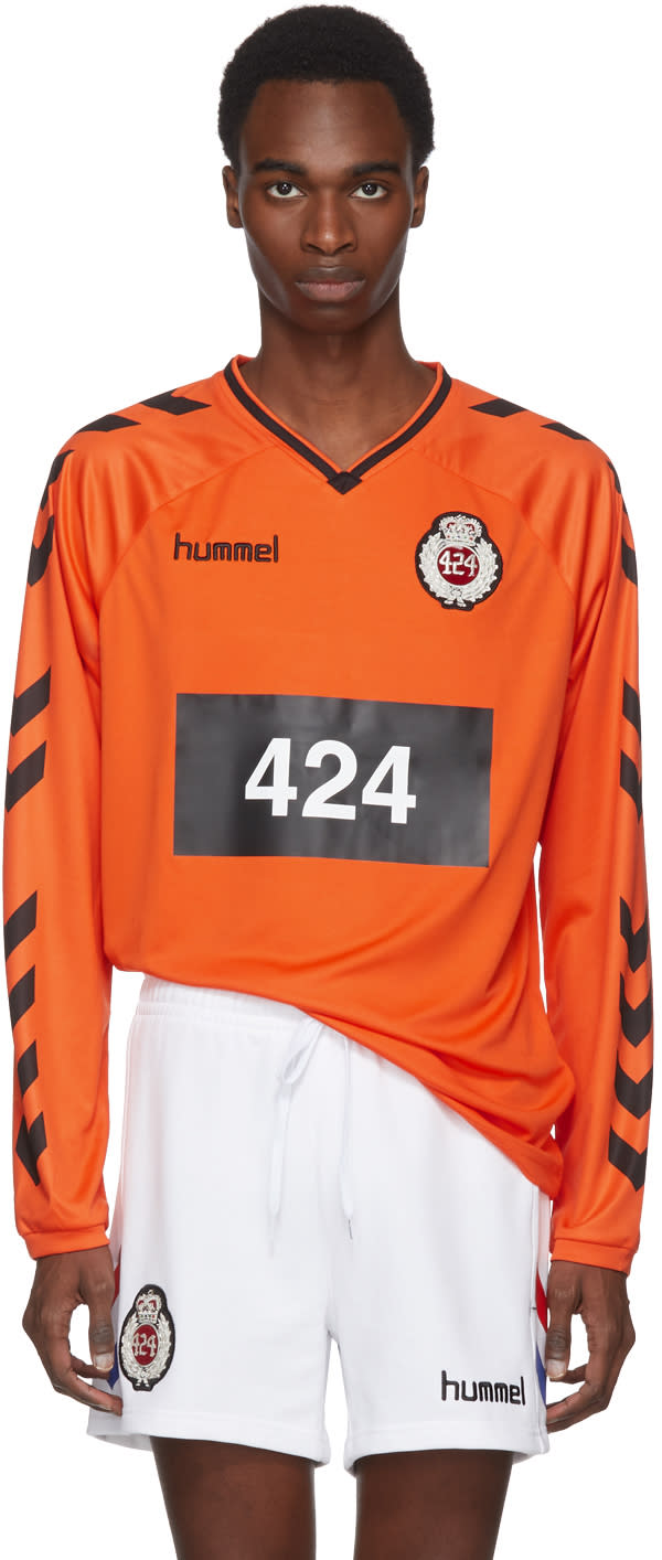 32f4ef3ddfd 424 Orange Hummel Edition Logo Jersey Sweater
