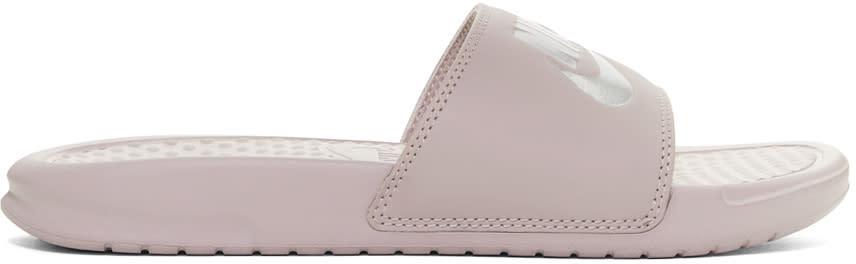 Nike Pink benassi Slides