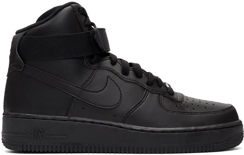 Image of Nike Black Air Force 1 High 07 Sneakers