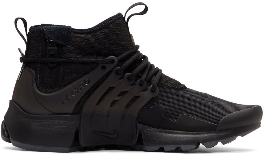Image of Nike Black Air Presto Mid Utility Sneakers