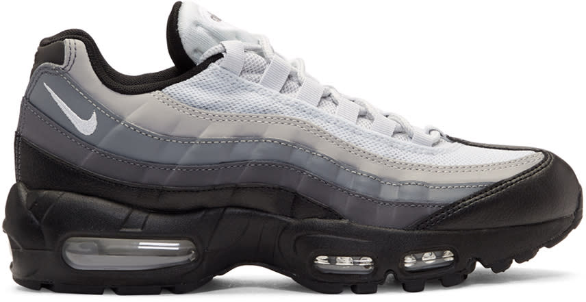 Image of Nike Black and Grey Air Max 95 Essential Sneakers