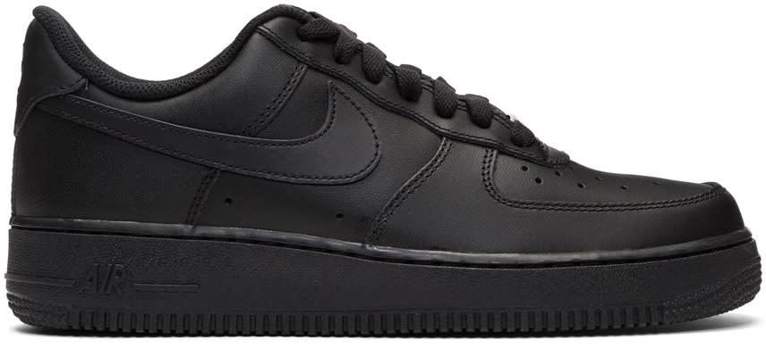 Image of Nike Black Air Force 1 07 Sneakers
