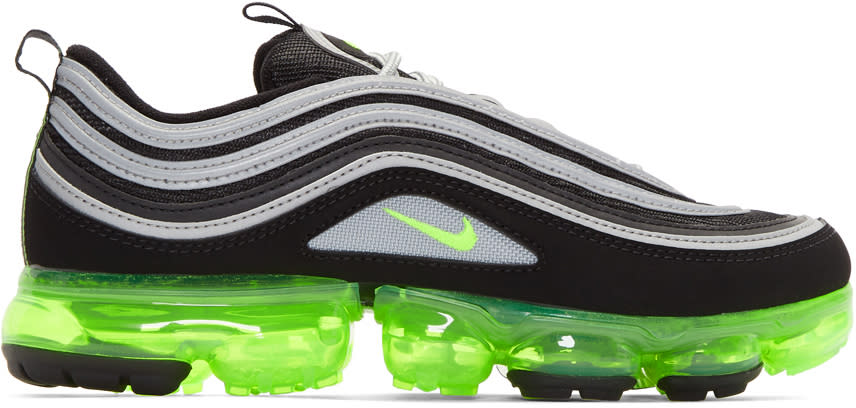 buy online a7e0c c4982 Nike Black and Silver Air Vapormax 97 Sneakers