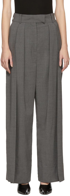 A.w.a.k.e. Pantalon Gris Double Pleated