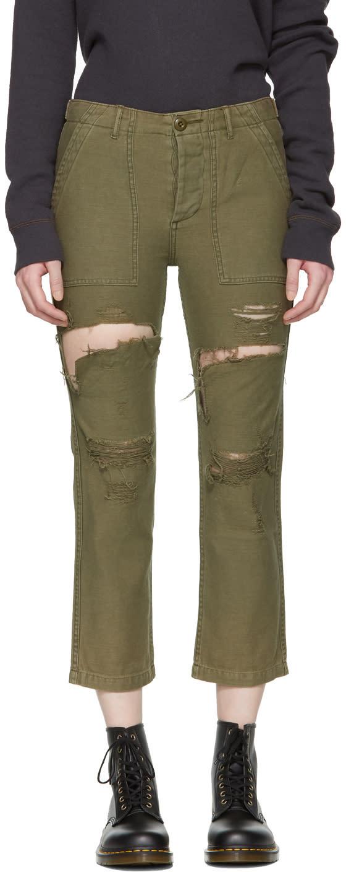 R13 Pantalon Vert Bowie Utility