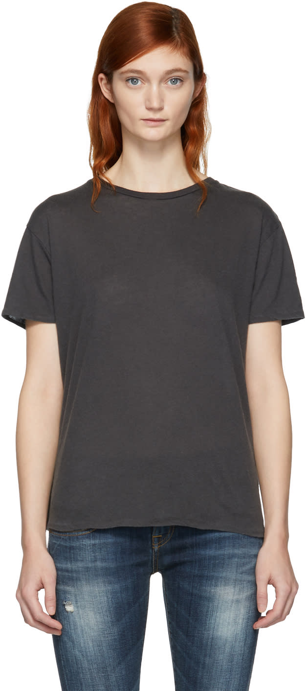 Image of R13 Black Cotton and Cashmere Boy T-shirt