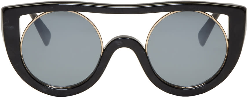 56df813163 Oliver Peoples Pour Alain Mikli Black and Gold Ayer Sunglasses