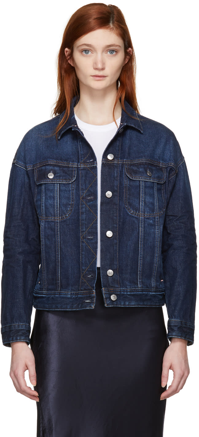 Image of Acne Studios Blå Konst Blue Denim Lamp Jacket