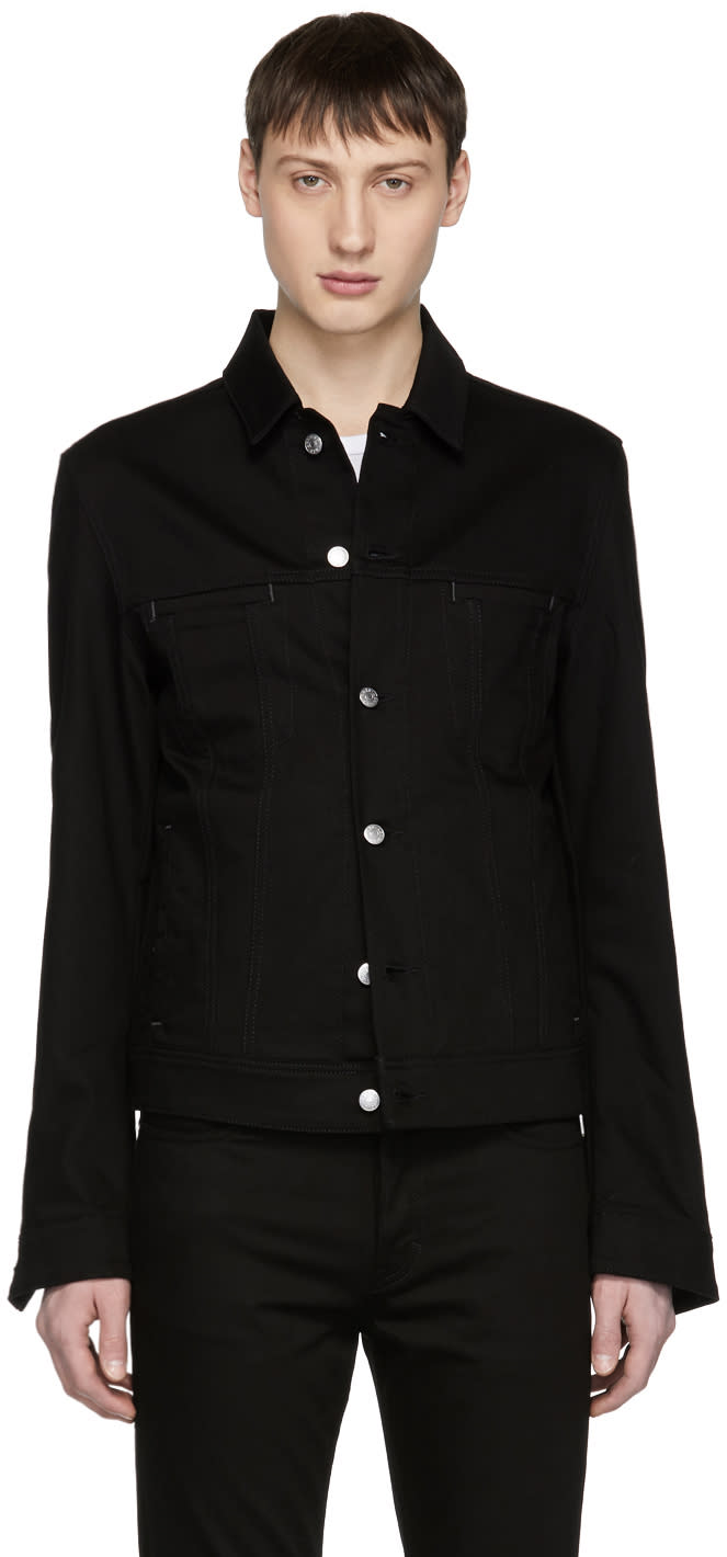 Image of Acne Studios Blå Konst Black Denim Pass Jacket