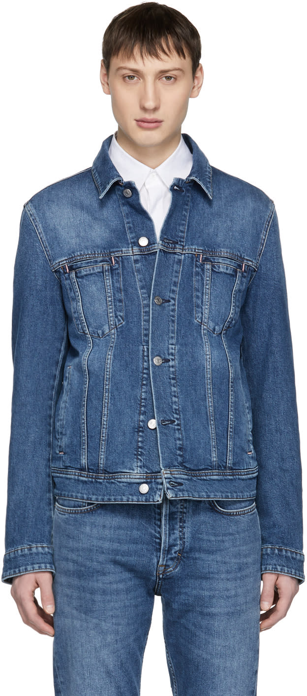 Image of Acne Studios Blå Konst Blue Denim Pass Jacket