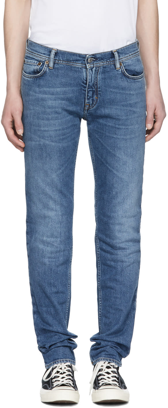 Image of Acne Studios Blå Konst Blue North Jeans