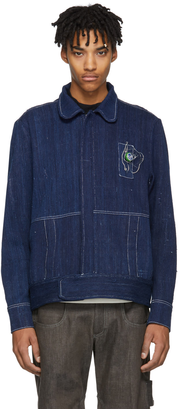 Image of St-henri Blue Denim Pompiste Jacket