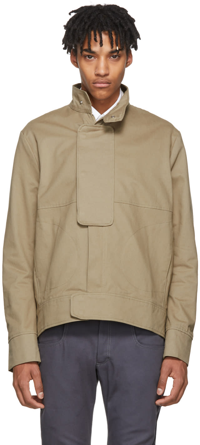 Image of St-henri Beige Casual Jacket