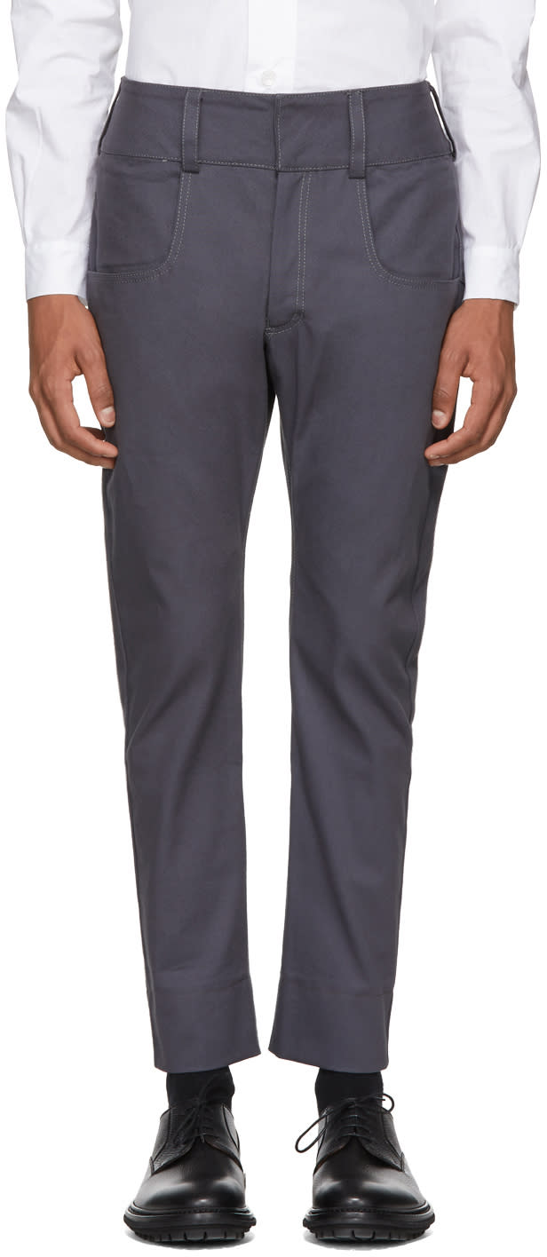 Image of St-henri Grey Baseball Trousers