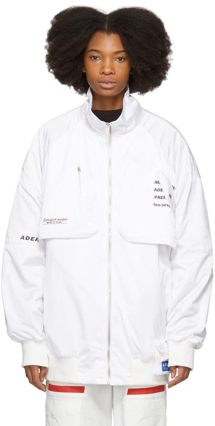 Ader Error Blouson Blanc Annex Pocket