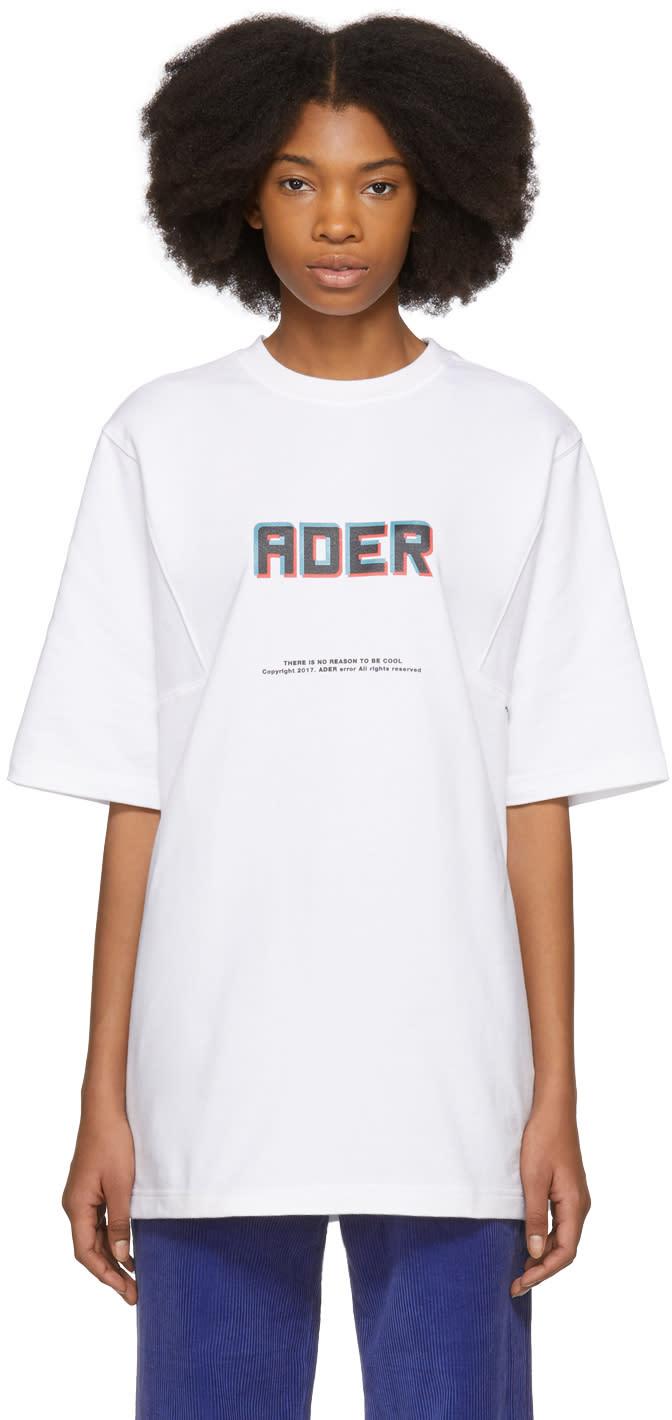 Ader Error T-shirt Blanc Angle