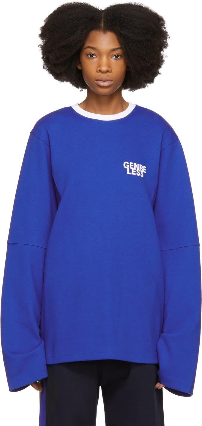 Ader Error T-shirt à Manches Longues Bleu genreless