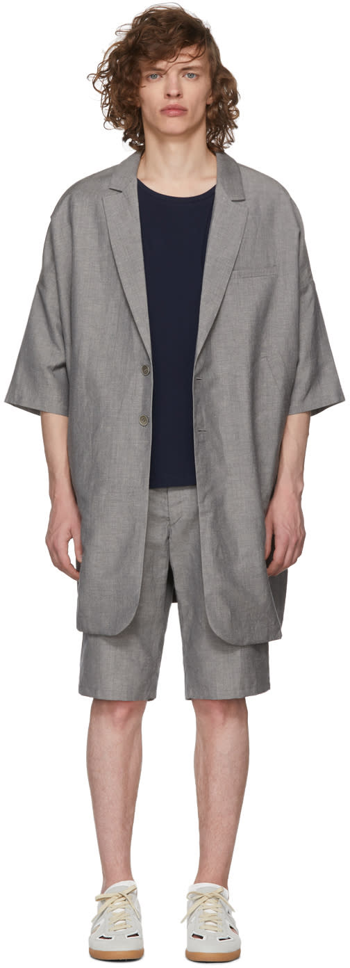 House Of The Very Islands Grey Oversized Blazer