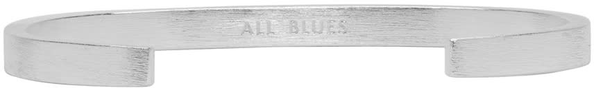Image of All Blues Silver Rectangle Bracelet