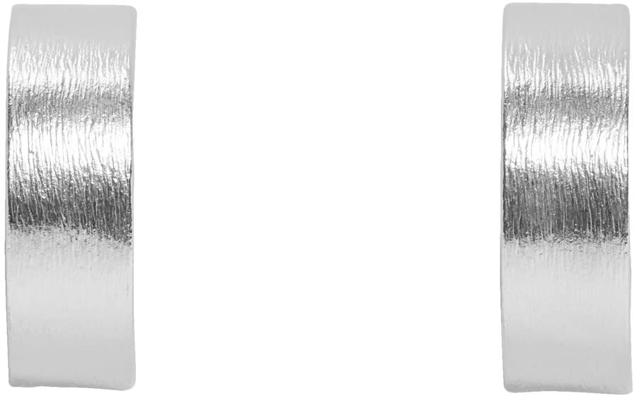 Image of All Blues Silver Small Rectangle Earrings