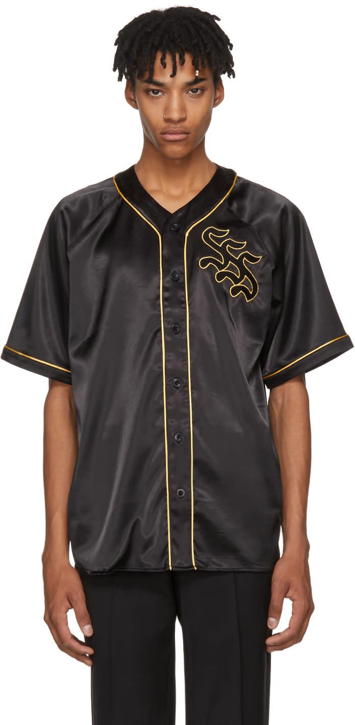 Image of Sss World Corp Black Logo Burt Baseball Jersey Shirt