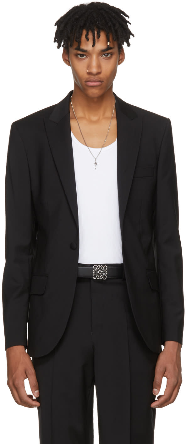 Image of Sss World Corp Black Wool Rampage Blazer