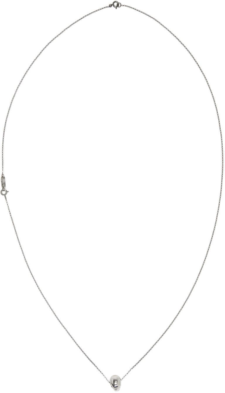 Image of Ugo Cacciatori Silver Classic Skull Pendant Necklace