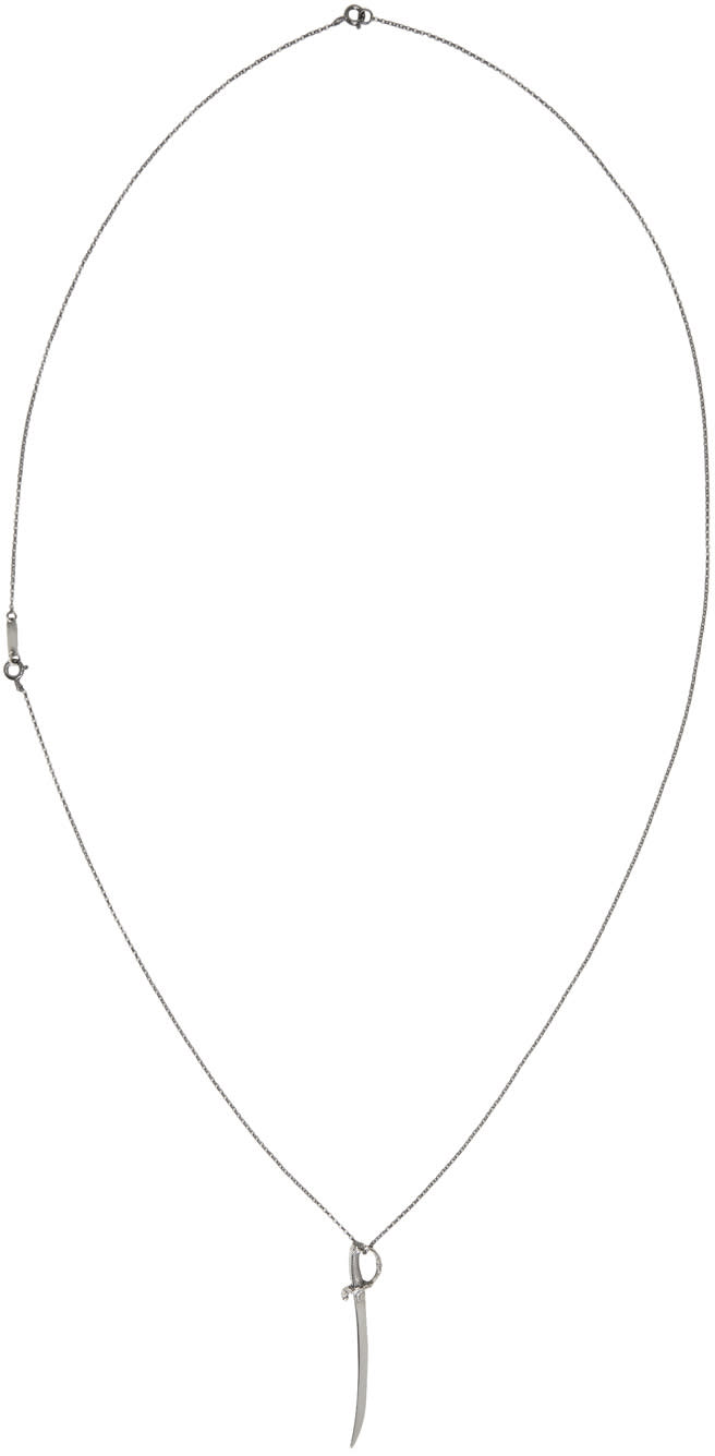 Image of Ugo Cacciatori Silver Small Saber Pendant Necklace