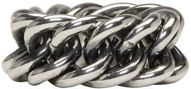 Image of Ugo Cacciatori Silver Chain Ring