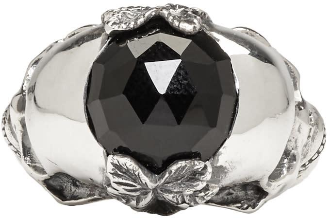 Image of Ugo Cacciatori Silver Double Skull Ring