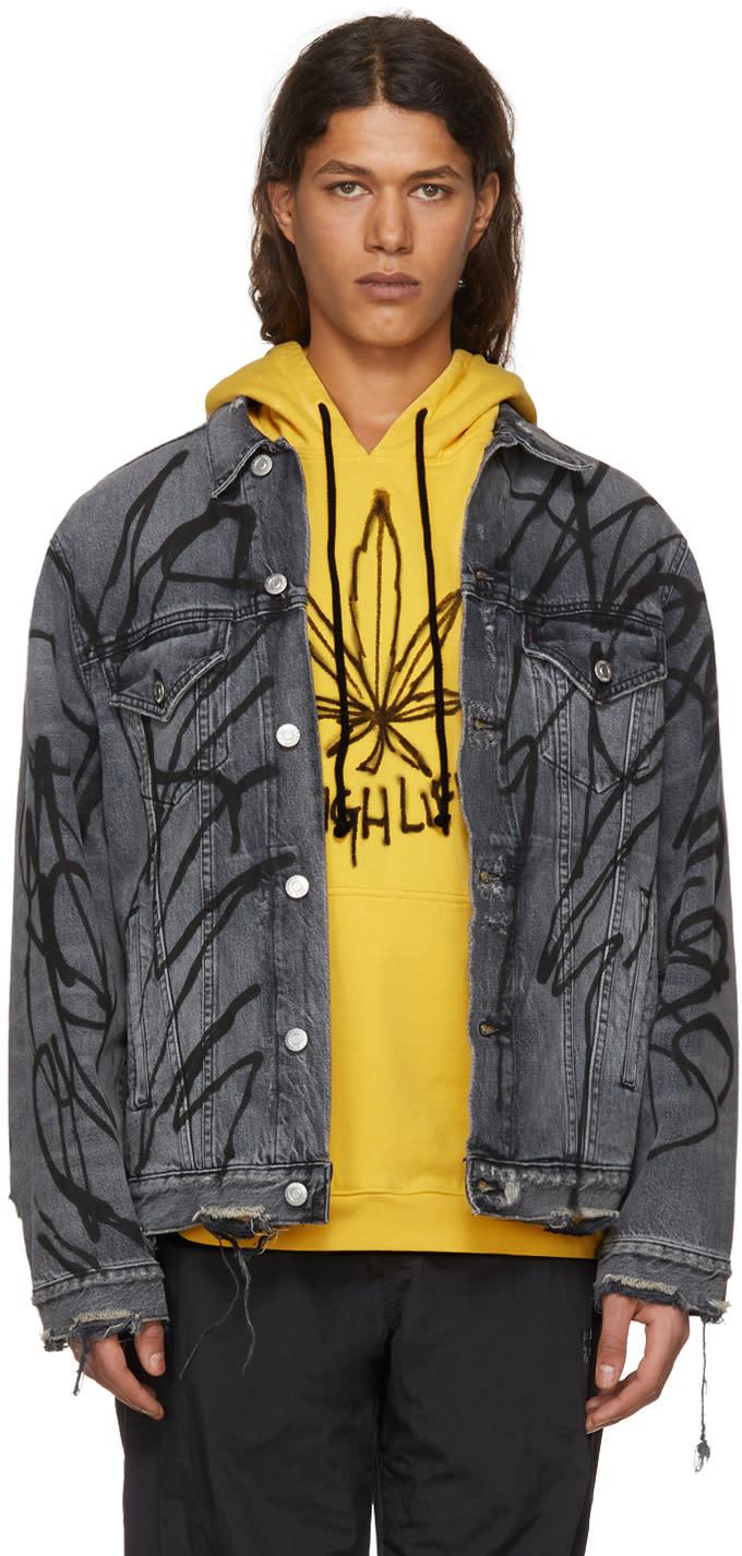 Image of Adaptation Black Oversized Denim Saber Jacket