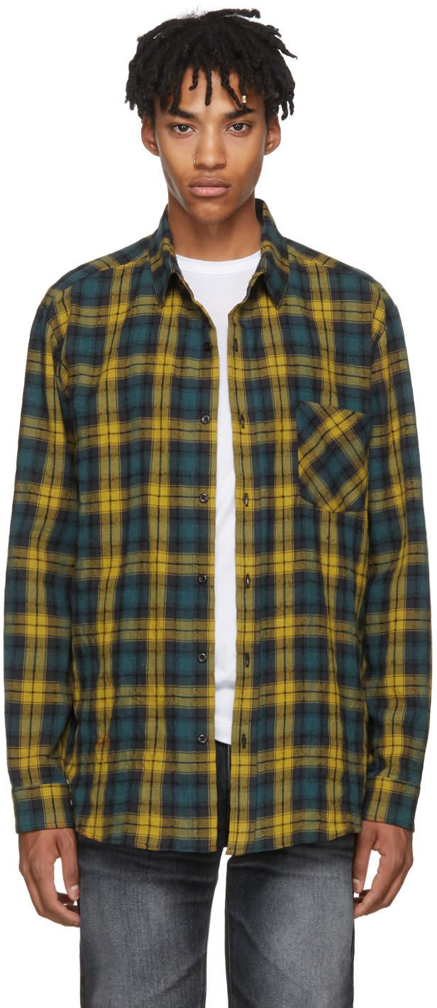 Image of Adaptation Yellow and Green Plaid Boy Shirt