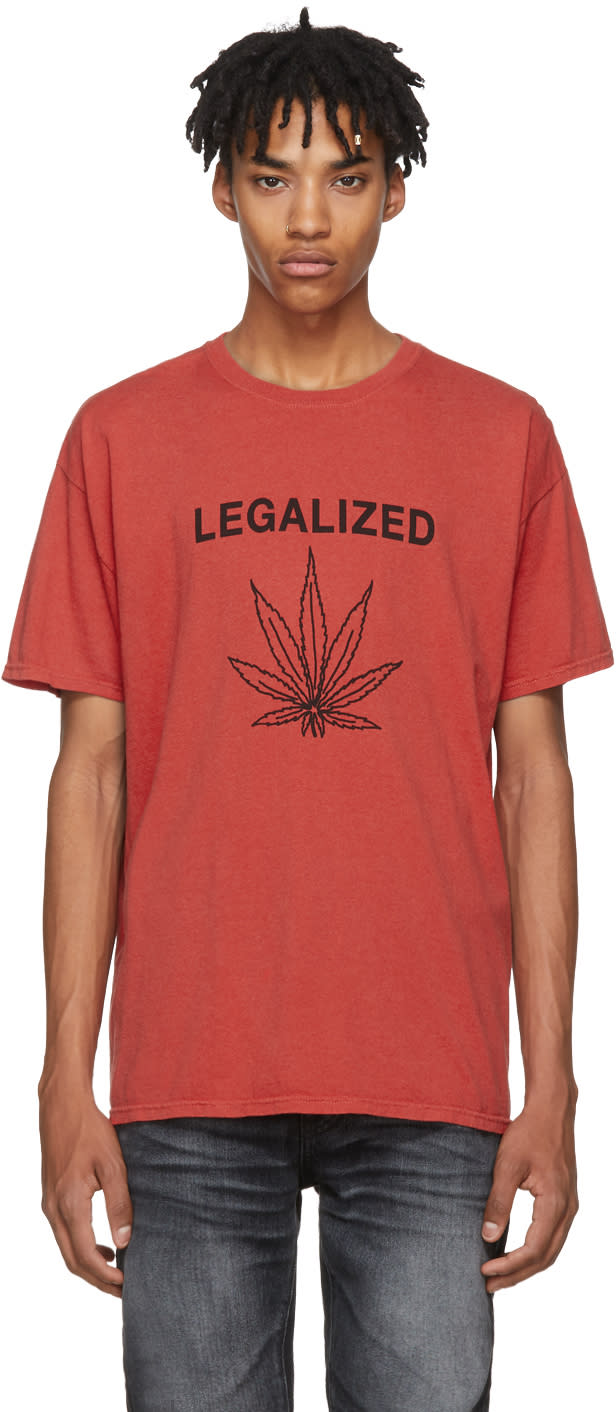 Image of Adaptation Red legalized Vintage T-shirt