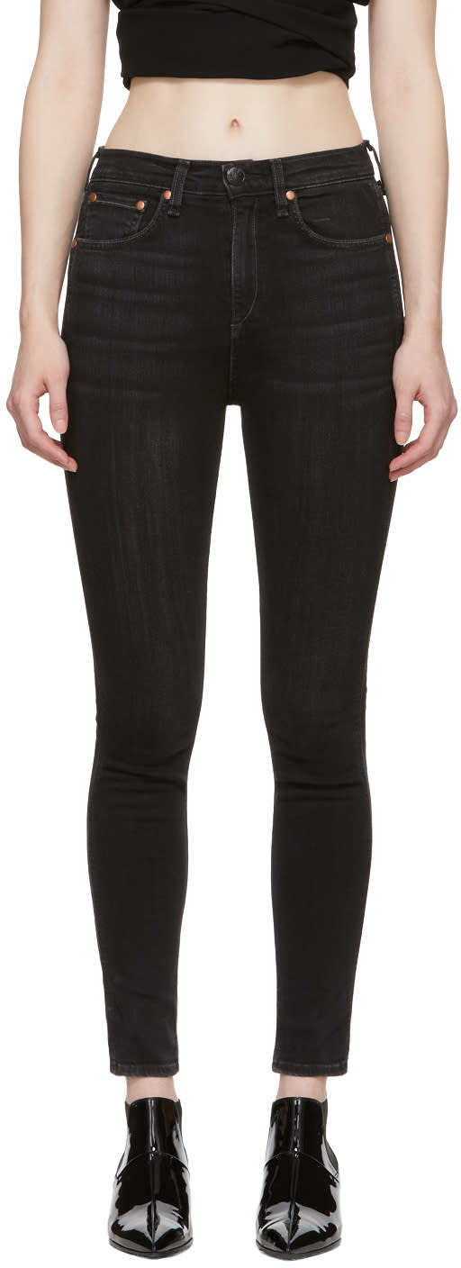 Rag And Bone Black Vintage Skinny Jeans