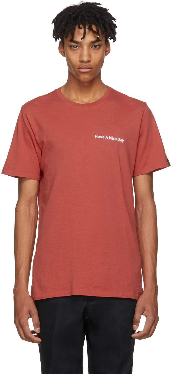 c586a587 Rag and Bone Red have A Nice Day T shirt