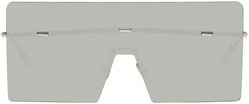 Image of Dior Homme Silver Hardior Shield Sunglasses