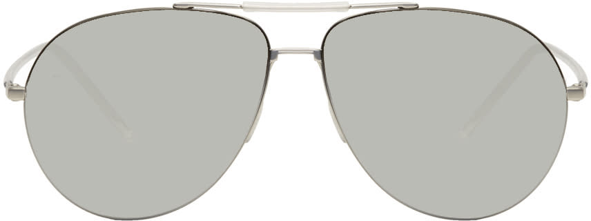 Image of Dior Homme Silver 0195-s Aviator Sunglasses